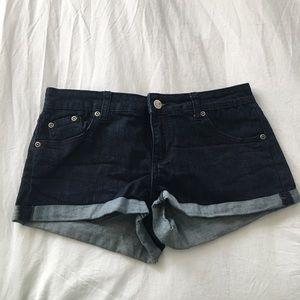 Forever 21 Denim Cuffed Shorts